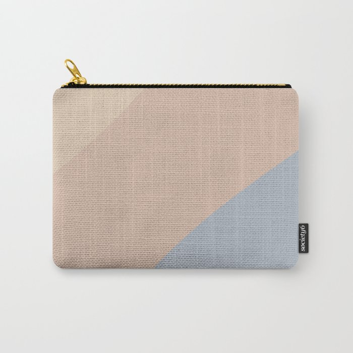 Neutral Blue Color Block Carry-All Pouch