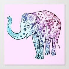 Painted Elephant Canvas Print