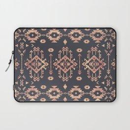 Trendy tribal geometric rose gold pattern Laptop Sleeve