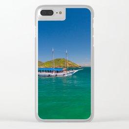 Boat ride in Buzios, Rio de Janeiro (Brasil) Clear iPhone Case