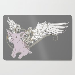 When pigs fly Cutting Board