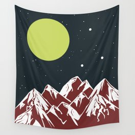 galactic mountains Wall Tapestry