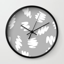 Marker Brush Pattern Wall Clock
