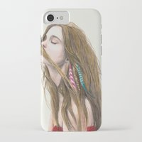 wind iPhone & iPod Cases featuring The Wind by Carlos ARL