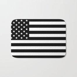 Black And White Stars And Stripes Bath Mat
