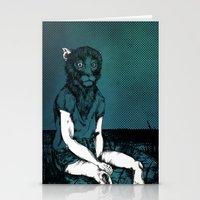 monkey Stationery Cards featuring Monkey by Merwizaur