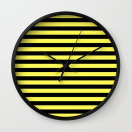 Stripes Black And Yellow Wall Clock
