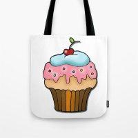 cupcake Tote Bags featuring Cupcake by AnnaCas