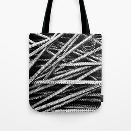 Rebar And Spring - Industrial Abstract Tote Bag