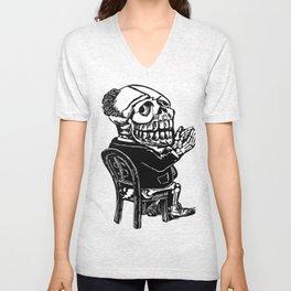 Capitalist Skull Unisex V-Neck