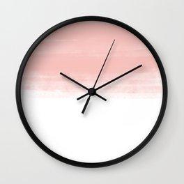 Pink wash Wall Clock