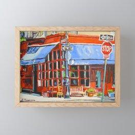 Little Owl Restaurant Framed Mini Art Print