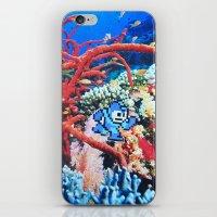 megaman iPhone & iPod Skins featuring Megaman by John Turck