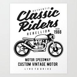 authentic clasic rider Art Print