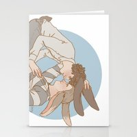 johnlock Stationery Cards featuring Bunnylock Boys by Stitchy