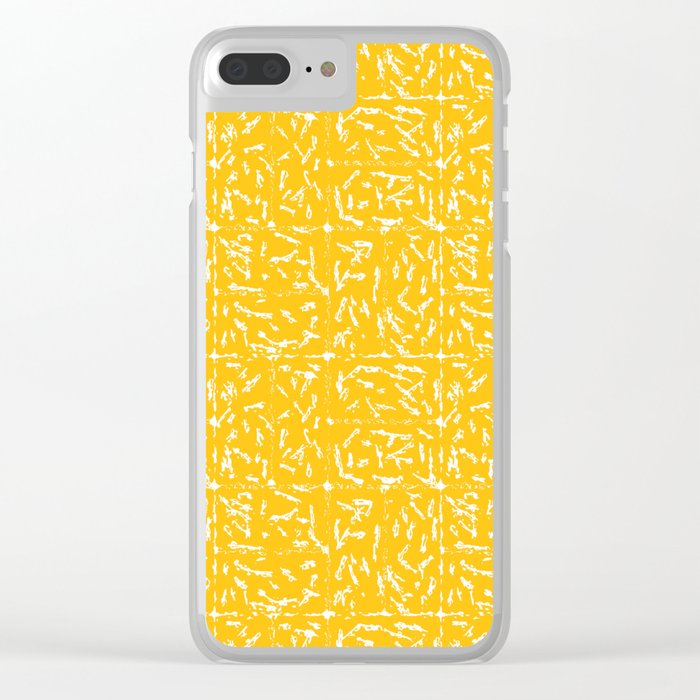 Crosshatch - Mustard Clear iPhone Case