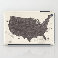 usa iPad Cases featuring USA by Mike Koubou