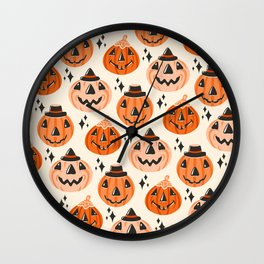 Vintage Halloween Blow Molds  Wall Clock