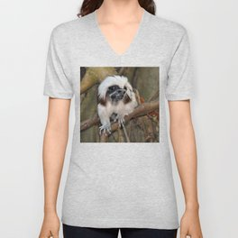 Cotton-top Tamarin Unisex V-Neck
