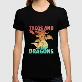 Taco Dragon Tortilla Sweet Vintage Retro T-shirt