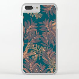 Blue Forest Clear iPhone Case