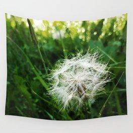 False Dandelion Fuzzy White Puffball Flower Garden Seeds Wall Tapestry