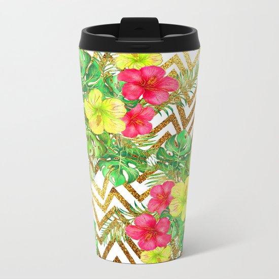 Summer Glitter #5 Metal Travel Mug