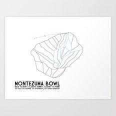 Arapahoe Basin, CO - Montezuma Bowl - Minimalist Trail Map Art Print
