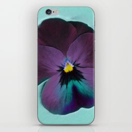 Purple viola tricolor iPhone Skin