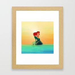 Beauty Mermaid Framed Art Print