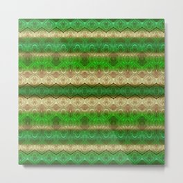 paisley ribbon in forest green Metal Print
