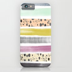 Watercolor Stripes I Slim Case iPhone 6s