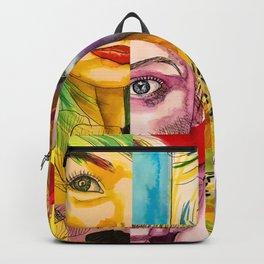 Female Faces Portrait Collage Design 1 Backpack
