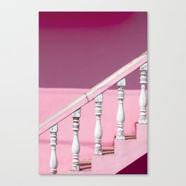 Pink Stairway Canvas Print