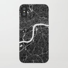 London Black And White Map iPhone Case