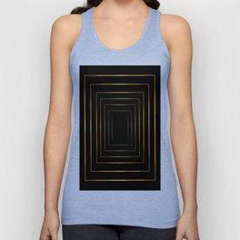 Golden pattern on black Unisex Tank Top