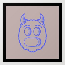 Monster head Art Print