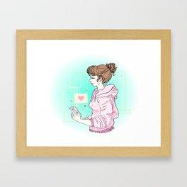 Talking To You Framed Art Print