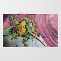 teenage mutant ninja turtles Area & Throw Rugs featuring Teenage Mutant Turtles Painting by Bfreshdesign