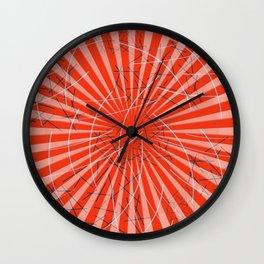 Spiral circles Sticks red Wall Clock