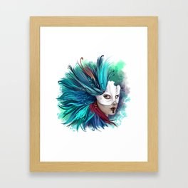 Feathers Mask Framed Art Print