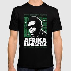 The Mighty Souls: Afrika Bambaataa Mens Fitted Tee Black MEDIUM
