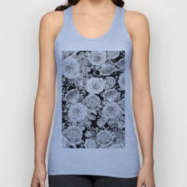 ROSES ON DARK BACKGROUND Unisex Tank Top
