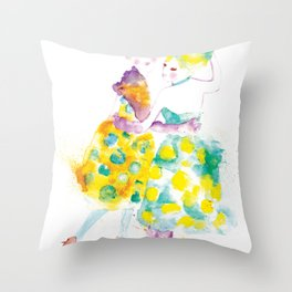 Rainbow Fashion Throw Pillow