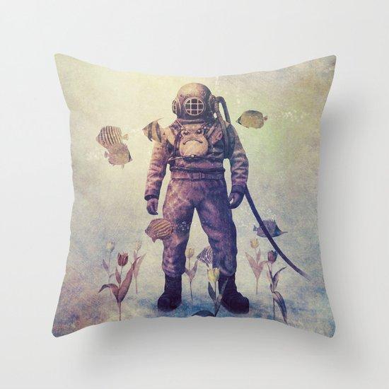 Deep Sea Garden - colour option Throw Pillow