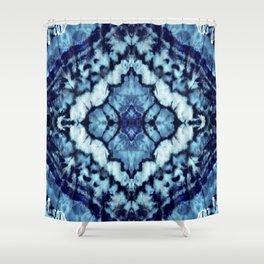 Tie Dye Linen Ikat Shower Curtain