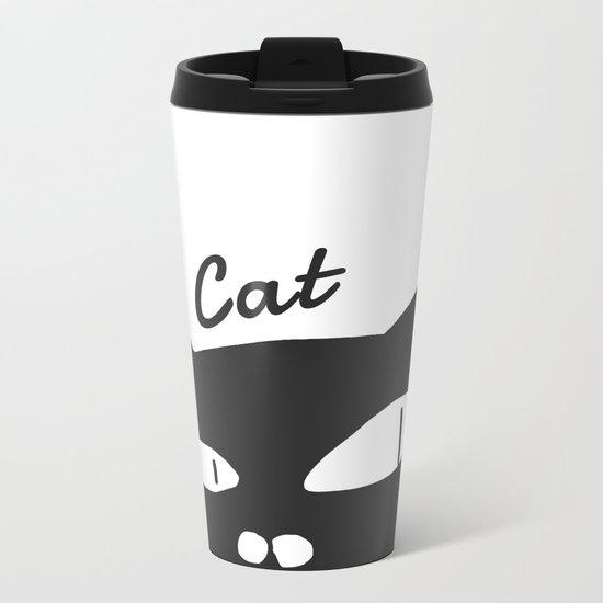 cat-154 Metal Travel Mug