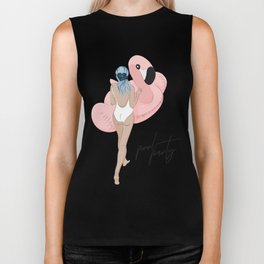 Pool party flamingo Biker Tank