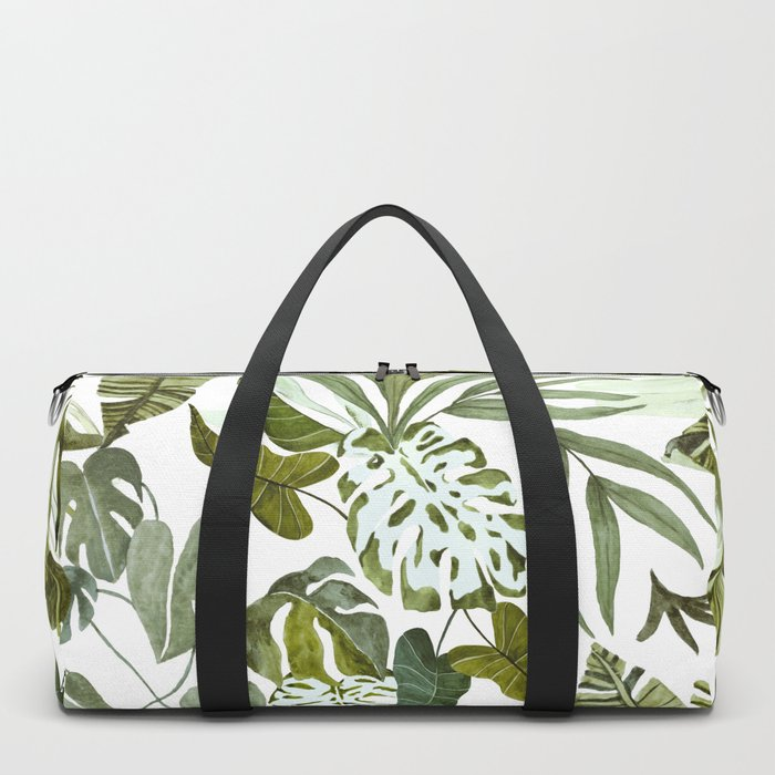 Wild botany in the jungle Duffle Bag