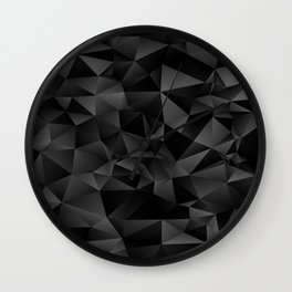 isometric pattern black Wall Clock